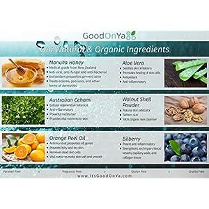 Exfoliating Cleanser with Manuka Honey - Organic Microdermabrasion Scrub (8 oz) by GoodOnYa