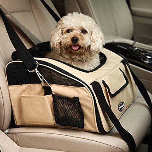 Treat Me Prime Oxford Cloth Pet Car Booster Seat Portable Carrier Bag Safe Travel Dog Carrier Bike Basket for Cats