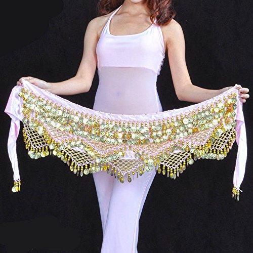 nbsp;pièces Belly Hip 320 style Jupe avec Ceinture Écharpe Dance 3 q0Prq