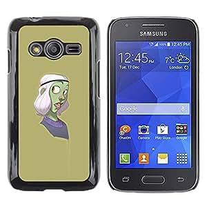 LECELL--Funda protectora / Cubierta / Piel For Samsung Galaxy Ace 4 G313 SM-G313F -- Green Character Cartoon Purple --