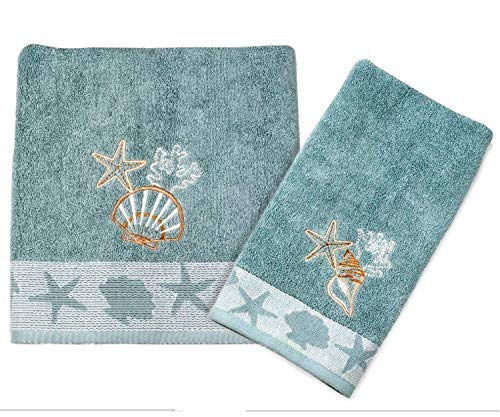 Better Homes and Garden Coastal Bath Towel and Hand Towel from Better Homes and Garden