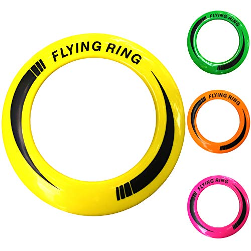 ZIBE Dog Frisbee Toy 4pcs- Pet Training Flying Saucer Interactive Toys - Get Outside & Play!