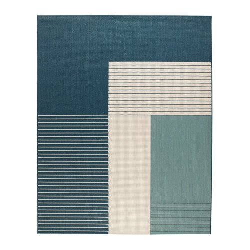 Ikea Rug, flatwoven, indoor/outdoor green-blue 6 ' 7 ''x8 ' 2 '' 1428.885.226 by Ikea