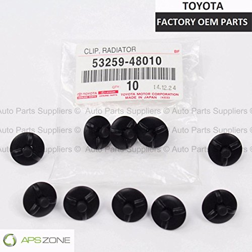 (Genuine OEM Toyota Lexus Radiator Support To Frame Seal/Fender Side Cover Clips)