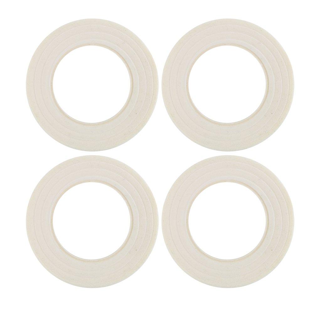 Decora 1/2 Wide 4 Pieces White Floral Stem Wrap Tapes for Florist Arrangement 4336861554