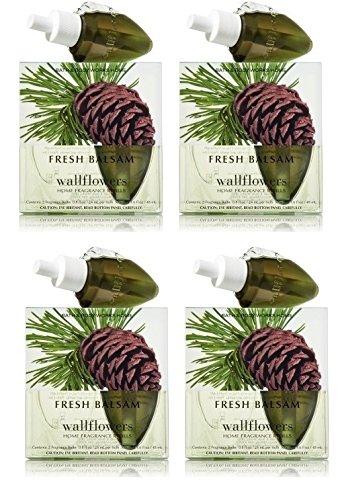 Fresh Balsam Wallflowers - EIGHT Refill Bulbs - Bath & Body Works by Bath & Body Works