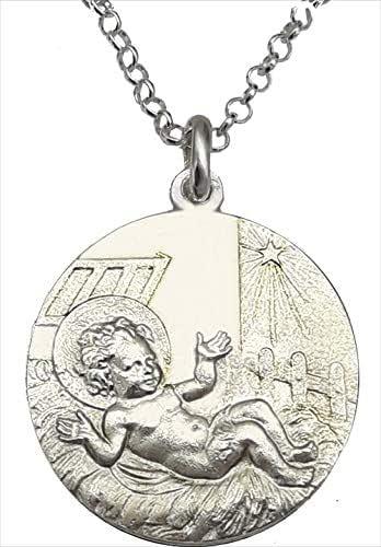 Medalla niño jesus - NIño en pajas - Medalla Niño Jesús en el Pesebre