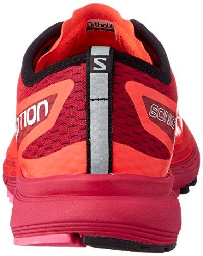 Salomon Fiery Orange Pink Trail W Pro Chaussures Sonic Glo Ra 43 Coral 000 EU de 3 Cerise Violet Femme wx7awqOrY