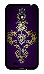 Gold Medalion on Purple Background TPU RUBBER SILICONE Phone Case Back Cover Samsung Galaxy S4 I9500