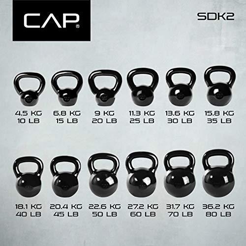 CAP Barbell SDK2-040 Enamel Coated Cast Iron Kettlebell, 40 lb, Black by CAP Barbell (Image #7)