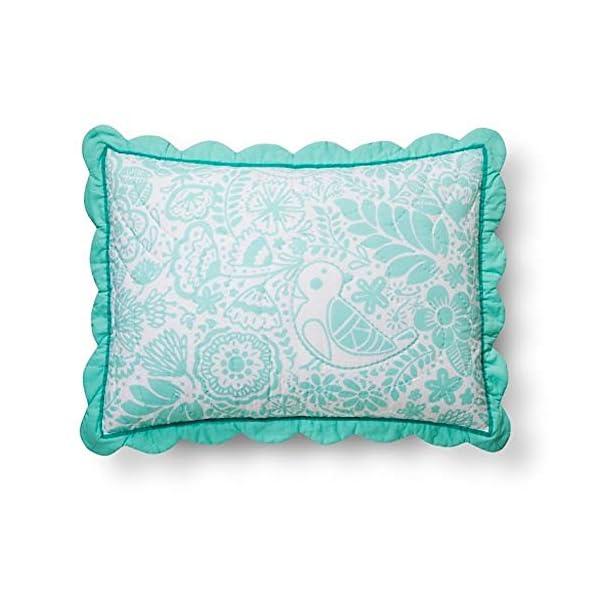 Birds-Scalloped-Edge-Sham-Standard-Mint-Pillowfort-TRG