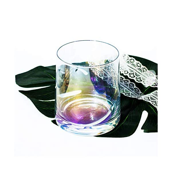 AIKASA - Set di 2 bicchieri da whisky, colorati, soffiati a mano, senza piombo, lavabili in lavastoviglie, regalo… 3 spesavip