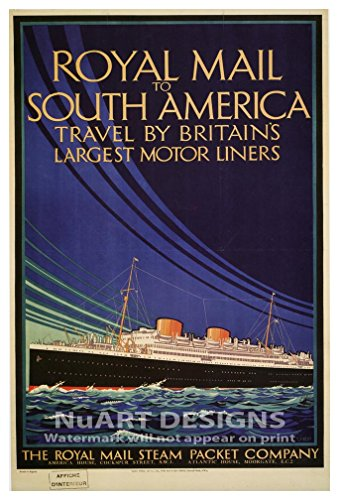 Vintage Ocean Liner Reproduction Giclee Poster