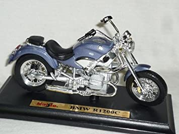 BMW R1200C blauviolet Maßstab 1:18 Motorradmodell von maisto