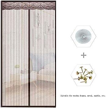 CFJKN Puertas de pantalla con imanes para puerta corredera, cortina de malla reforzada con manos libres.: Amazon.es: Bricolaje y herramientas