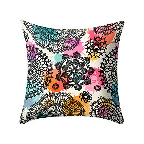 YAYUMI Polyester Print Throw Pillow Case Sofa, Car Cushion Cover Home Decor 45 X 45cm/18x18 inches for Sofa Bedroom Car Home ()