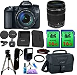 Canon EOS 70D DSLR Camera & Canon 18-135mm IS STM Lens. PagingZone Deluxe Kit Includes, 2 Pieces - 16GB Class 10 Card 3 + Canon Bag + Flash + Tripod + UV Filter + Card Reader + Cleaning Kit