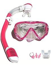 VILISUN Schnorchel-Set für Kinder und Erwachsene, Wide View Tauchmaske Anti-Fog Anti-Leck, trocken Schnorchel mit Weichen Mundstück, zum Schnorcheln, Tauchen