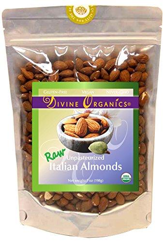 Divine Organics 7 Oz Italian Almonds 198 Grams  7 Oz
