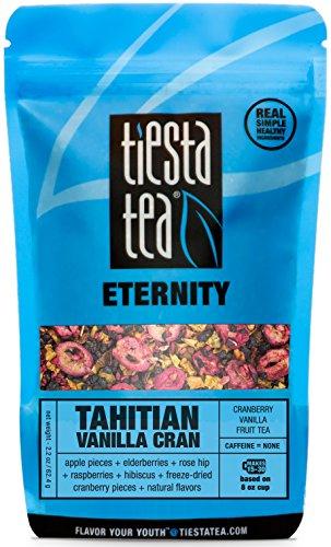 Cranberry Vanilla Fruit Tea | TAHITIAN VANILLA CRAN 2.2 Ounce Pouch by TIESTA TEA | Caffeine Free | Loose Leaf Herbal Tea Eternity Blend | Non-GMO (Vanilla Tahitian Coffee)