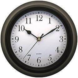 Geneva Clock Co. 4429 Plastic Wall Clock 9. 75x2. 75x11. 75 Black