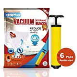 6 Pack JUMBO Vacuum Storage Bags sapce saver for Clothes...
