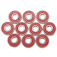 SODIAL(R) 10pcs ABEC-9 bearings Skateboard Super fast 608-2RS bearing steel speed skate