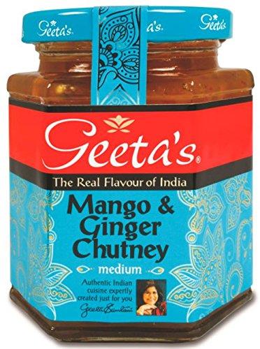 Geeta's herzhafte Mango & Ingwer Chutney, 320g