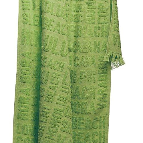100pourcentcoton Maxi-Toalla de playa 80 x 160 CM, diseño de HAMMAN AYDA 100% algodón, color verde: Amazon.es: Hogar
