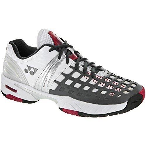 Yonex Tennis Clothing (Yonex Power Cushion Pro Men's Tennis Shoe, White/gray/red Size: 7.5)