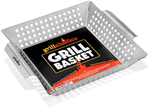 Grillaholics Grill Basket Vegetables Accessories
