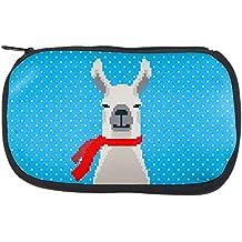 Winter Pixelated Llama Makeup Bag