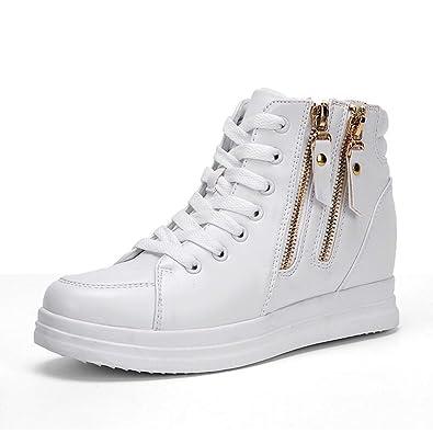 7d9b6554a6640 Amazon.com | Hoxekle Wedges Women Lace Up Shoes Platforms High Top ...