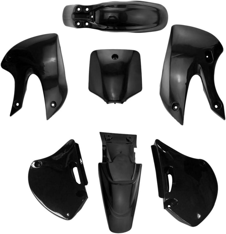 Nrpfell Carenado de Pl/áStico para Motocicleta Kits de Cubierta de Cuerpo Completo Guardabarros Guardabarros para KLX 110 KX65 DRZ110 Dirt Pit Bike 2002-2013