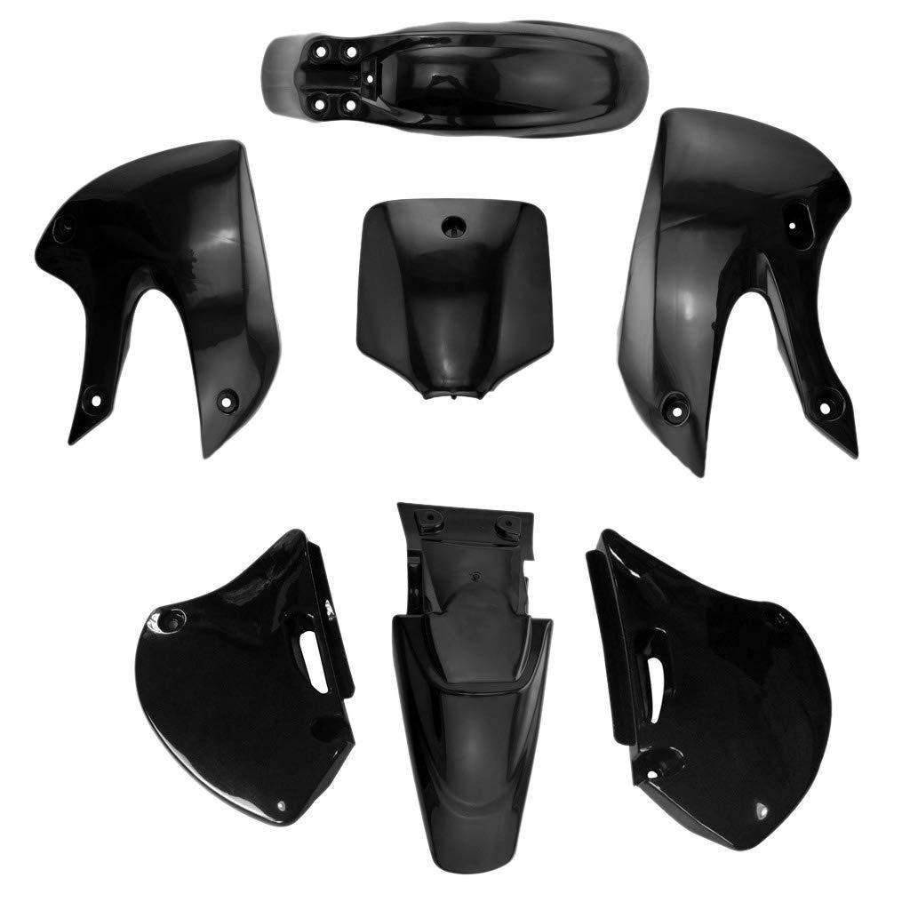 Semoic Kit Parafanghi per Parafango Completo di Carenatura nel Plastica per Moto KLX 110 KX65 DRZ110 Dirt Pit Bike 2002-2013