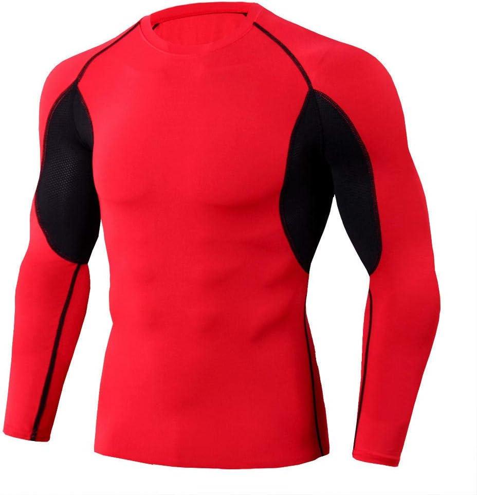 Gimnasia Deportiva para Nadar y Practicar Surf InitialD Rash Guard Men Top de Entrenamiento Camiseta de Manga Larga de compresi/ón de Manga Larga