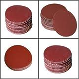 SHINA 50pcs 7 80 GRIT Sanding Discs Hook Loop Backed Aluminum Oxide Sandpaper SDisc-7inch-80x50pc-US