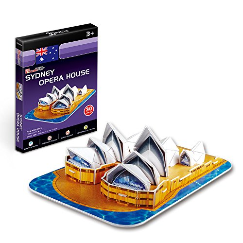 CubicFun S3001h Sydney Opera House (Mini) World's Great Architectures 3d Puzzle, 30 Pieces