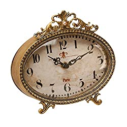 Stunning Gold Filigree Classic Mantel Clock By Haysom Interiors