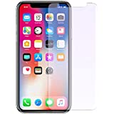 iPhone X Tempered Glass screen protector by EMETRO Anti Blue Light [Eye Protect] 2 Pack 9H Hardness 3D Touch Compatible Anti-Scratch, Tempered Glass for iPhone X