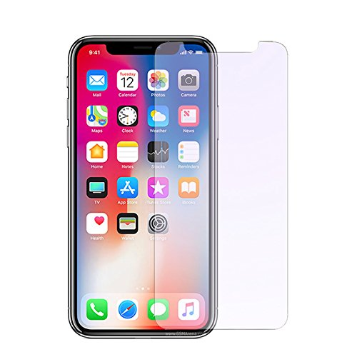 finest selection 04cd4 a4756 iPhone X Tempered Glass screen protector by EMETRO Anti Blue Light [Eye  Protect] 2 Pack 9H Hardness 3D Touch Compatible Anti-Scratch, Tempered  Glass ...