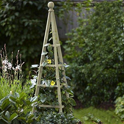 Large 19m Sage Wooden Garden Obelisk