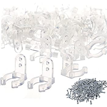Amazon bcp 50pcs 12inches clear color pvc led rope light 120pcs 12inch clear pvc led rope light holder wall mounting clips with screws aloadofball Choice Image