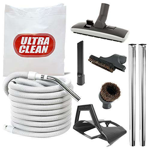 Ultra Clean AM8050A Deluxe 50' Central Vac Vacuum Hose and Attachment Kit ()