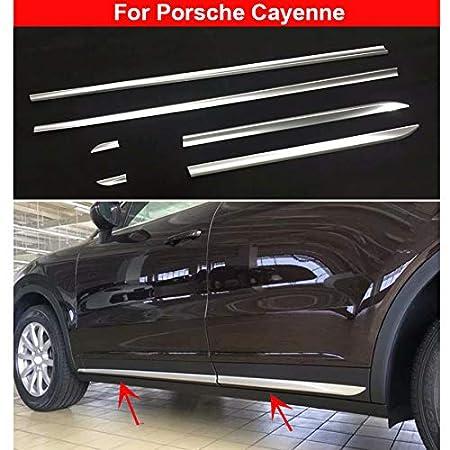Cubierta de cromo para moldear el cuerpo de la puerta lateral para Cayenne 2018 2019: Amazon.es: Coche y moto