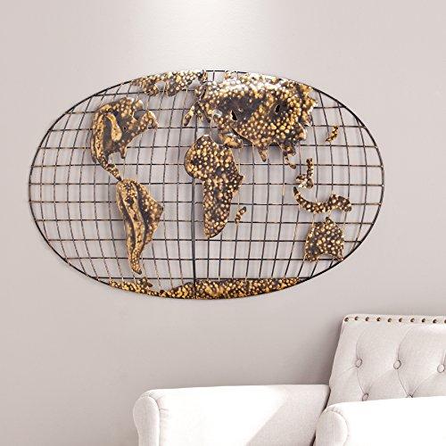 n World Map Wall Art (Iron World Map)