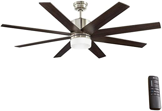 Home Decorators Collection 60 In Zolman Pike Led Dc Brushed Nickel Ceiling Fan With Remote Amazon Com