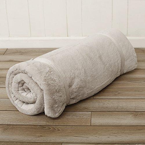 Best Home Fashion Plush Faux Fur Hooded Dog Animal Sleeping Bag - Taupe - 27''W x 59''L - (1 Sleeping Bag) by Best Home Fashion (Image #5)