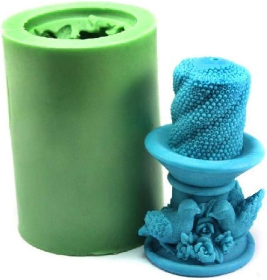 Zonster Vogel-Kuchen-Kerze-Form-Silikon-Seifen-Form-Kerze-Form-DIY Kerzenherstellung Mold