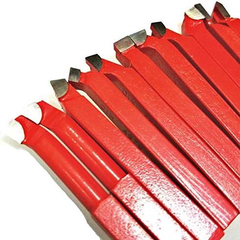 GENERICS LSB-Werkzeuge, 11 Stücke 10 * 10mm, 8 * 8mm Hartmetallspitze Spitze Bit Set Gelötete Fräser Werkzeuge for Metall CNC Drehmaschine, schweißen Drehen Werkzeughalter (Größe : 11pcs 10mm)